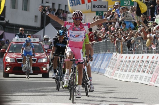 Rodriguez wins stage 17 of the Giro d'Italia 2012 / 2012 Tour of Italy. Photo Fotoreporter Sirotti.