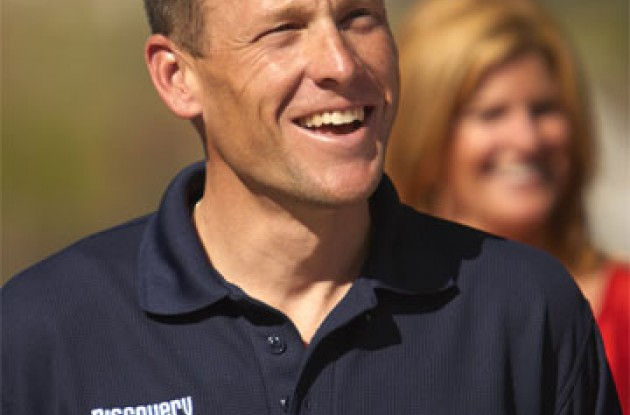Lance Armstrong. Golf, anyone? Photo copyright Ben Ross/Roadcycling.com.