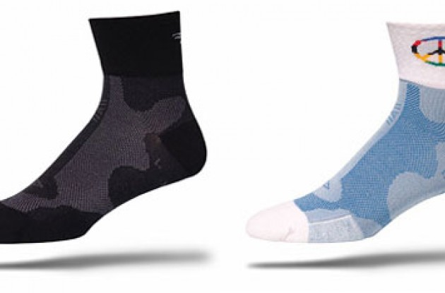 DeFeet Levitator socks. Photo copyright Roadcycling.com.