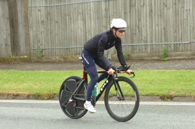 Great Britain's Lizzie Armitstead training on the Olympic time trial course. Photo Fotoreporter Sirotti.