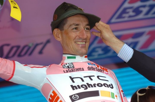 Marco Pinotti on the podium. Photo Fotoreporter Sirotti.