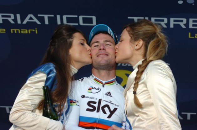 British cyclist Mark Cavendish is looking to make an early statement ahead of the London Olympics with a victory in Saturday's Milan-San Remo classic. Photo Fotoreporter Sirotti.