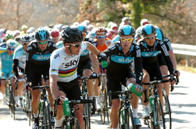 Team Sky has announced its Giro d'Italia roster. Photo Fotoreporter Sirotti.