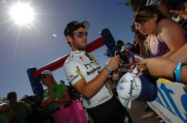 Team HTC-HighRoad's powerhouse Mark Cavendish. Photo Fotoreporter Sirotti.