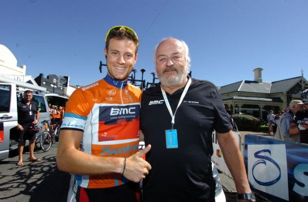 Team BMC Racing's Andy Rihs and former race leader Martin Kohler. Photo Fotoreporter Sirotti.
