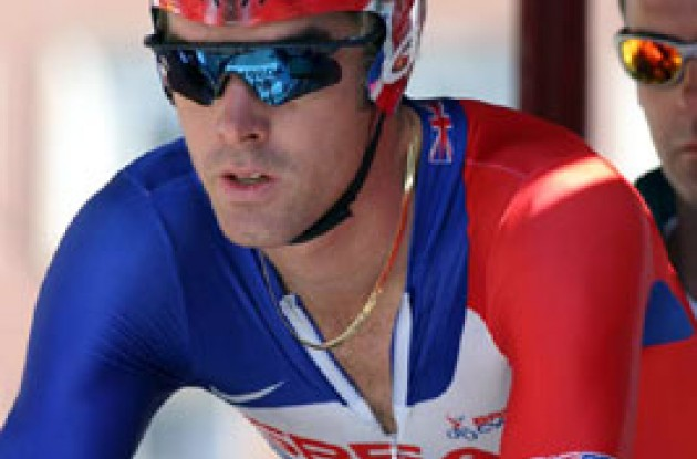 David Millar focused and ready for the race of his life. Photo copyright Paul Sampara Photography.