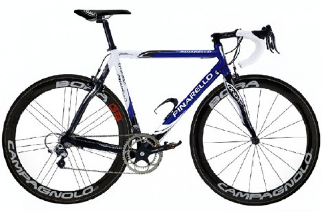 Petacchi's bike for Milano-San Remo. Photo copyright Roadcycling.com.