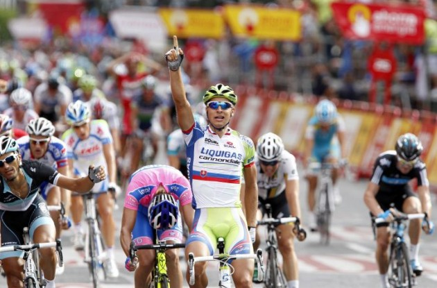 Peter Sagan wins his third Vuelta stage. Photo Fotoreporter Sirotti.