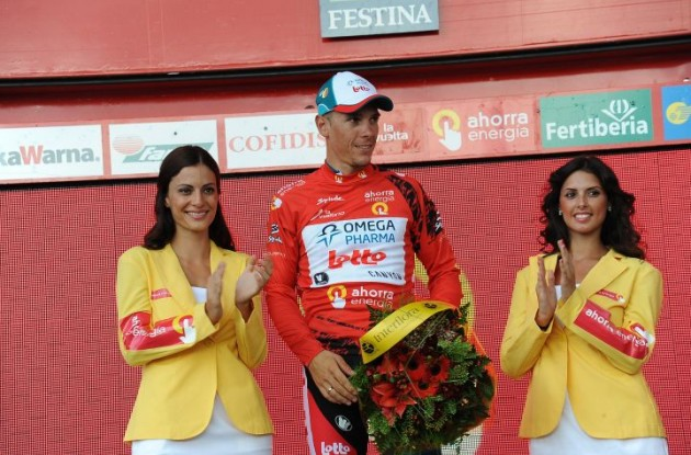 Philippe Gilbert still leads overall 10 seconds ahead of Euskaltel's Igor Anton. Photo copyright Fotoreporter Sirotti.