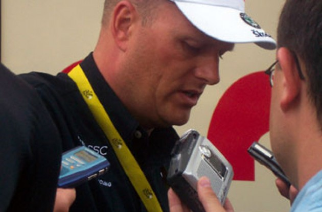 Bjarne Riis (Team CSC). Photo copyright Roadcycling.com.