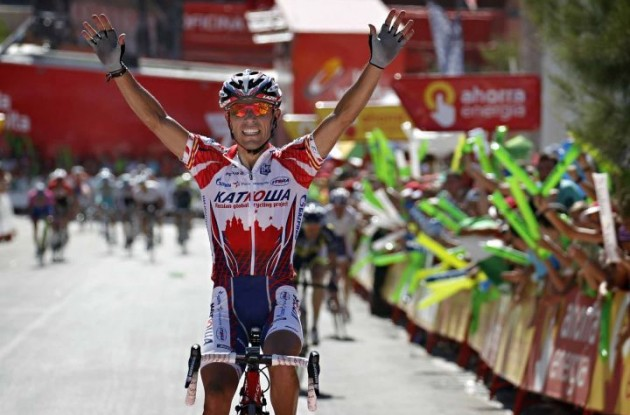 Joaquin Rodriguez wins stage 5 of the 2011 Tour of Spain.