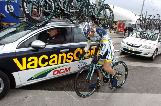 Romain Feillu (Team Vacansoleil). Photo Fotoreporter Sirotti.