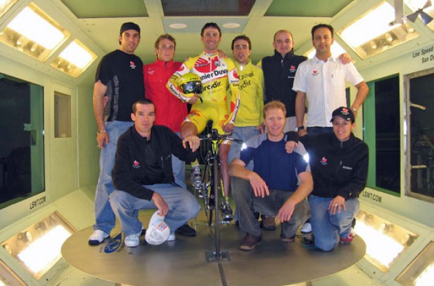 Saunier Duval - Simoni, Millar and co. in the wind tunnel. Photo copyright Roadcycling.com.