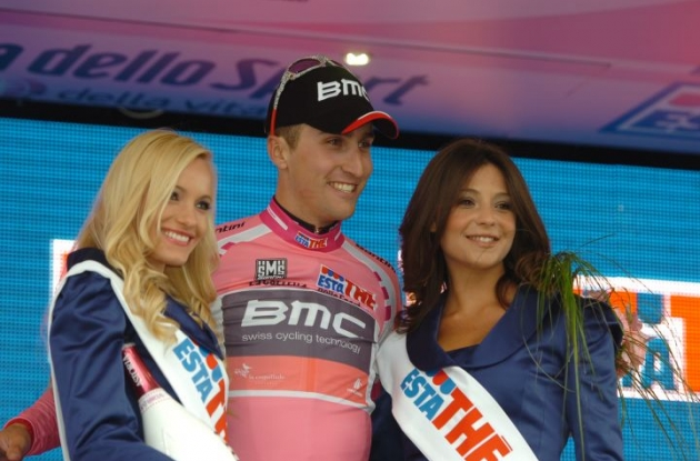 Team BMC Racing's Taylor Phinney (USA) successfully defended his overall Giro d'Italia lead today in spite of mechanical problems in the final kilometers. Photo Fotoreporter Sirotti.