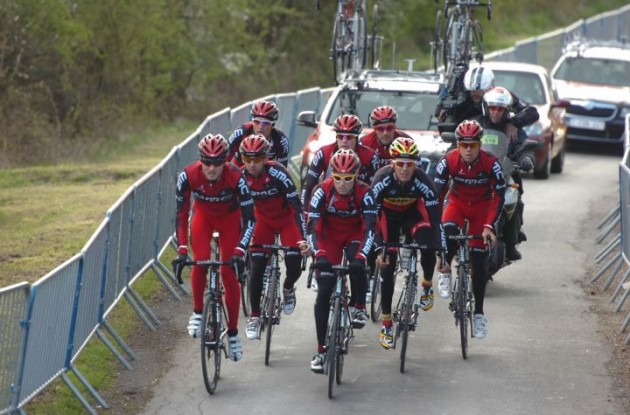 Team BMC Racing's Philippe Gilbert, Greg van Avermaet and co. can't wait for this year's Liege-Bastogne-Liege to begin. Photo Fotoreporter Sirotti.