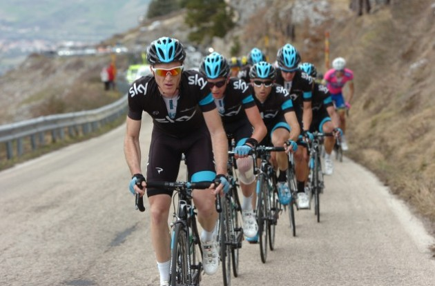 Photo: Team Sky has revealed its roster for this year's Giro d'Italia / Tour of Italy .