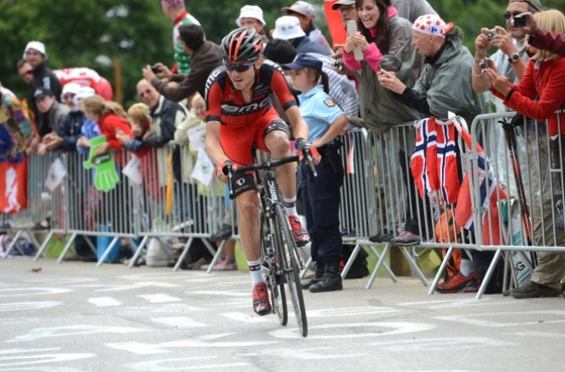 Photo: American Tejay van Garderen is BMC Racing Team's captain in Paris-Nice 2014 from March 9-16 .
