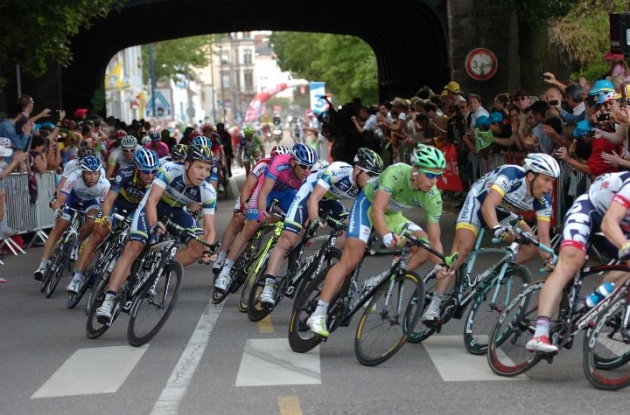 The final kilometer of today's Tour de France stage. Photo Fotoreporter Sirotti.