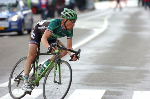 Thomas Voeckler showed some creative and smart riding skills on his way to his impressive race victory. Photo Fotoreporter Sirotti.
