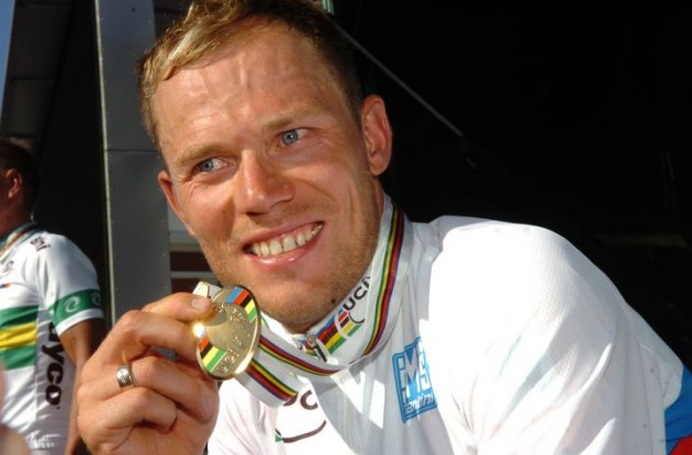 World Champion Thor Hushovd. Photo Fotoreporter Sirotti.