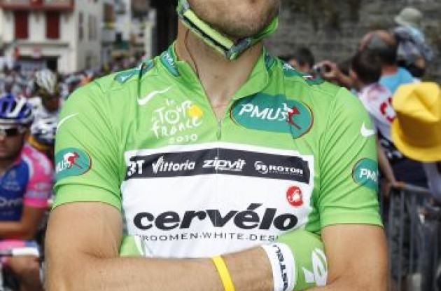 Thor Hushovd moves from Cervelo TestTeam to Team Garmin-Cervelo in 2011. Photo copyright Fotoreporter Sirotti.