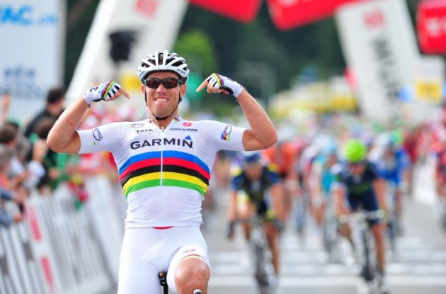 Who's boss? Team Garmin-Cervelo's God of Thunder Thor Hushovd! Photo Fotoreporter Sirotti.
