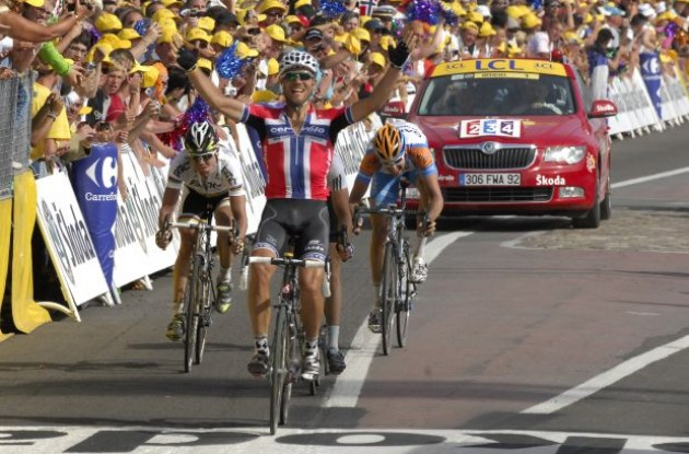 Thor Hushovd wins stage 3 for Cervelo TestTeam! Photo copyright Fotoreporter Sirotti.
