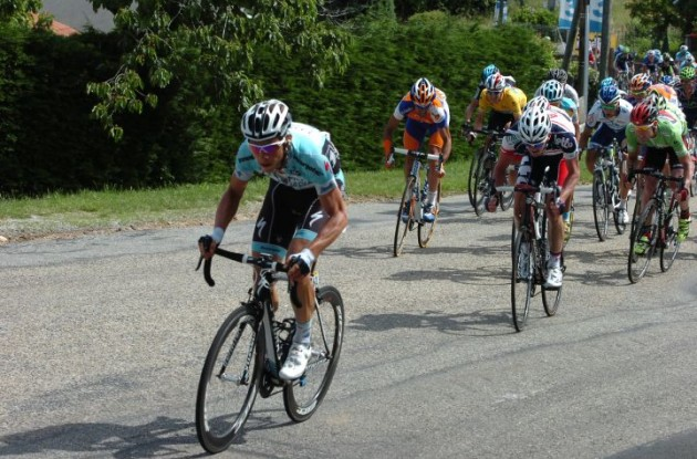 Team Omega Pharma-QuickStep's Tony Martin attacks. Photo Fotoreporter Sirotti.