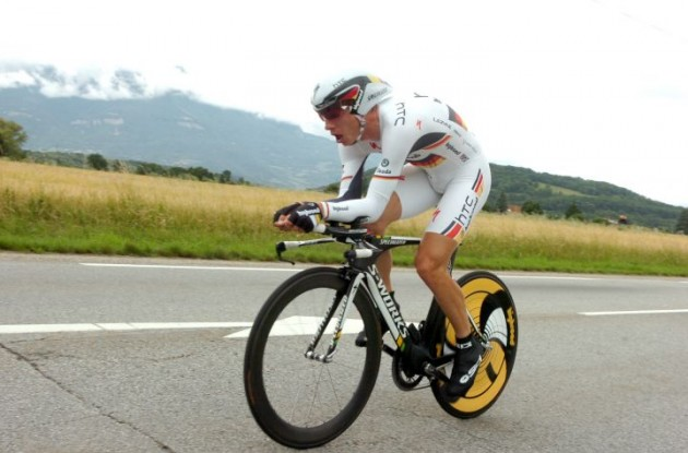 Tony Martin on his way to stage victory. Photo Fotoreporter Sirotti.