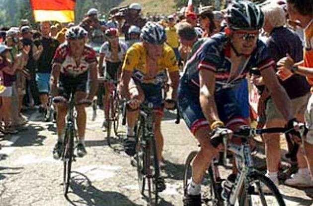 Floyd Landis worked hard for Lance Armstrong again today. Will he soon discover a new contract?