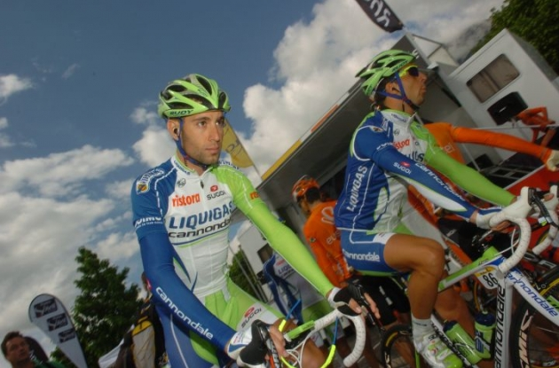 Vincenzo Nibali will lead Liquigas-Cannondale in the Tour de France 2012. Photo Fotoreporter Sirotti.