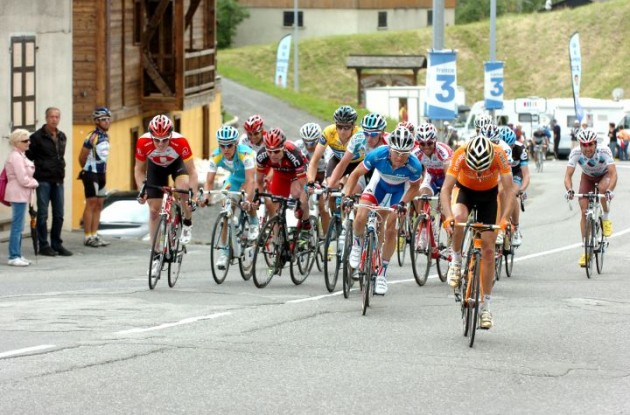 Vinokourov, Evans, Wiggins, Voeckler, Sanchez, Hermans. Photo Fotoreporter Sirotti.