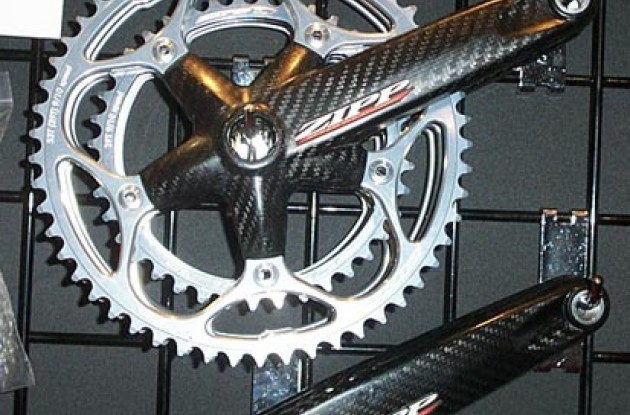 Zipp carbon cranks. Photo copyright Roadcycling.com.