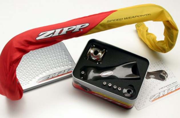 ZIPP B2 Carbon Bar & 145 Carbon Stem. Photo copyright Roadcycling.com.